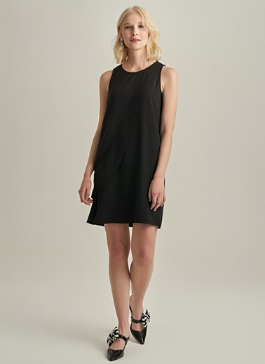 Ng Style Önden Dilimli Elbise Siyah